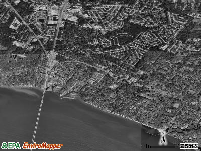 Mandeville satellite photo by USGS
