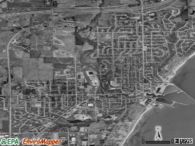 Port Washington satellite photo by USGS