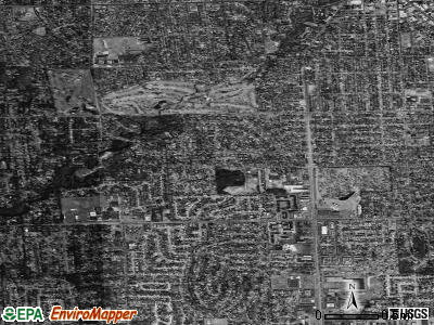 Beverly Hills satellite photo by USGS