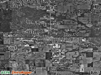 Frankfort satellite photo by USGS