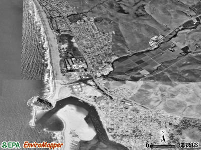 Morro Bay satellite photo by USGS