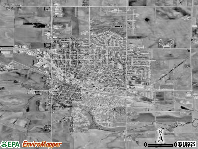 Carroll satellite photo by USGS