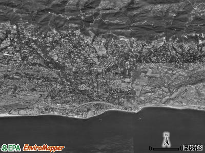Montecito satellite photo by USGS