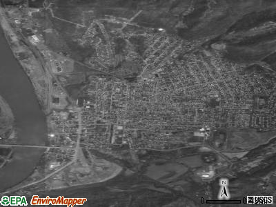 Moundsville satellite photo by USGS