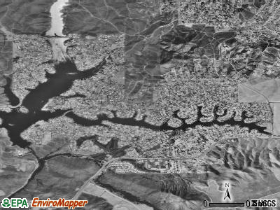 Canyon Lake satellite photo by USGS