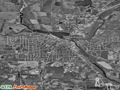 Burlington satellite photo by USGS