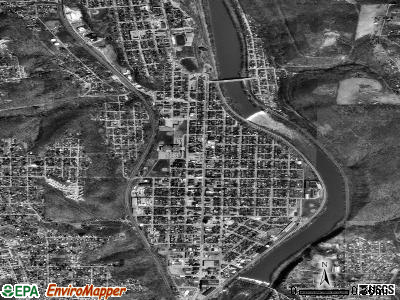 Beaver Falls satellite photo by USGS