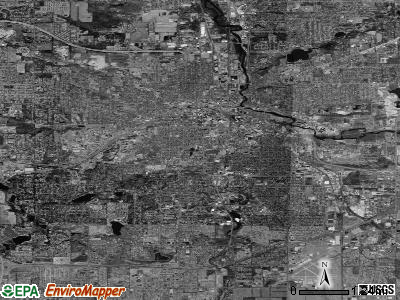 Kalamazoo satellite photo by USGS