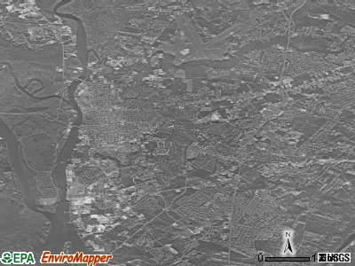 Wilmington satellite photo by USGS