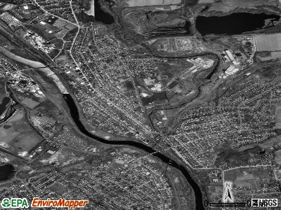 Northampton satellite photo by USGS