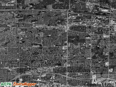 Schaumburg satellite photo by USGS