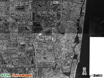Boca Raton satellite photo by USGS