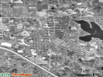 Howell satellite photo by USGS