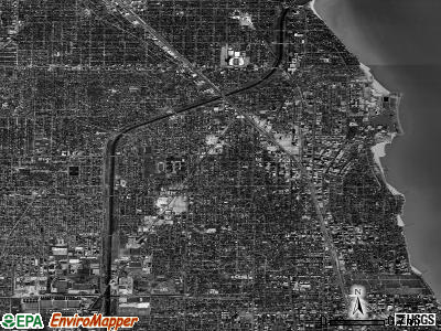 Evanston satellite photo by USGS