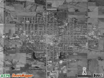 Grinnell satellite photo by USGS