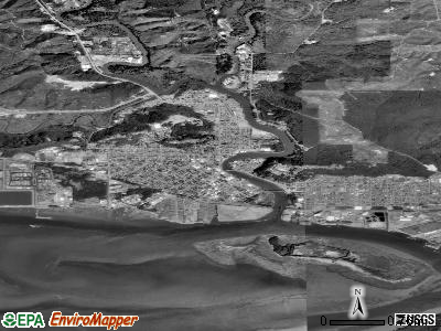 Hoquiam satellite photo by USGS