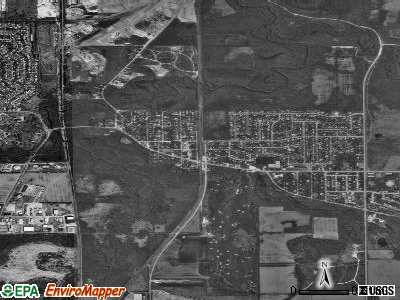 Waunakee satellite photo by USGS