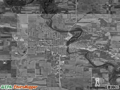 Waverly satellite photo by USGS