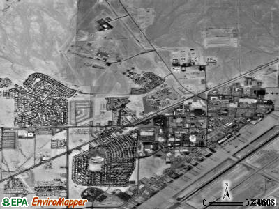 Nellis AFB satellite photo by USGS