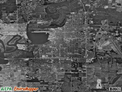 Lake Charles satellite photo by USGS