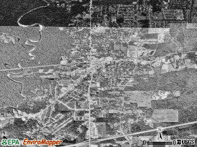 Denham Springs satellite photo by USGS