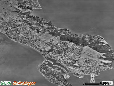 Tiburon satellite photo by USGS