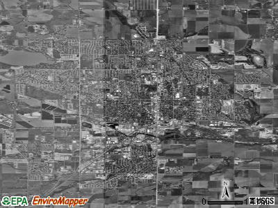 Longmont satellite photo by USGS