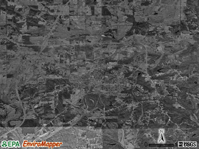 Booneville satellite photo by USGS