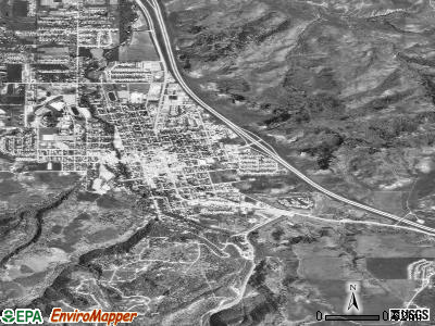 Spearfish satellite photo by USGS