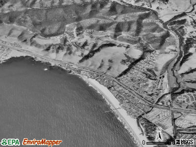 Pismo Beach satellite photo by USGS