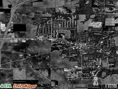Troy satellite photo by USGS