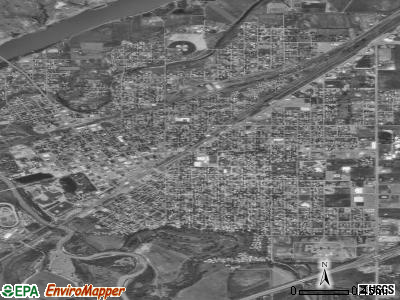 Miles City satellite photo by USGS