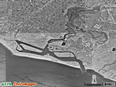 Newport Beach satellite photo by USGS