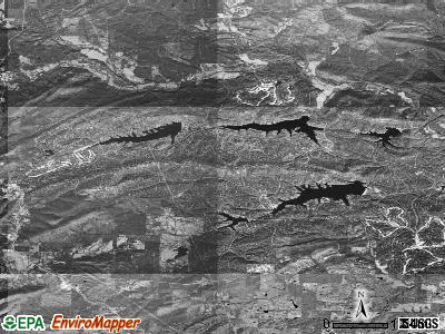 Hot Springs Village satellite photo by USGS