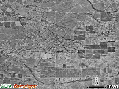 Woodcrest satellite photo by USGS