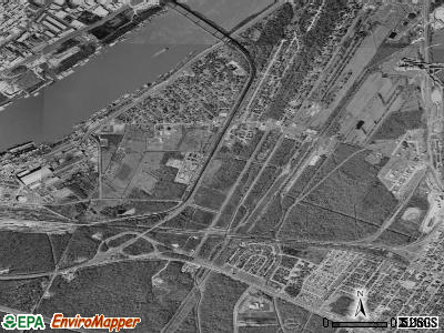 Bridge City satellite photo by USGS