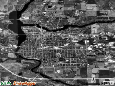 Shawano satellite photo by USGS