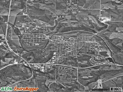 Decorah satellite photo by USGS