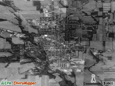 Eaton satellite photo by USGS