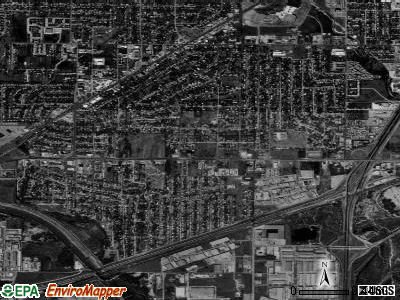 Richland Hills satellite photo by USGS