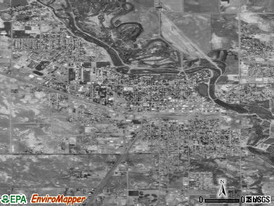 Alamosa satellite photo by USGS
