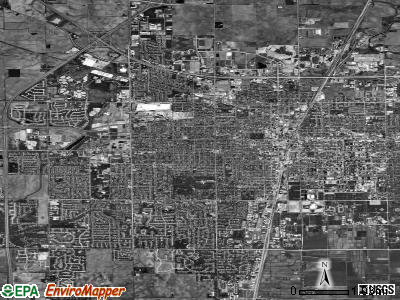 Champaign satellite photo by USGS