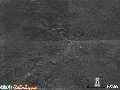 Poteau satellite photo by USGS