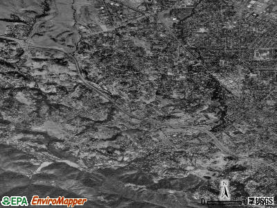 Los Altos Hills satellite photo by USGS