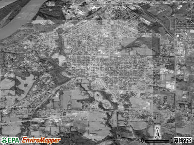 Tuscumbia satellite photo by USGS