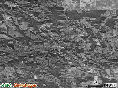 Clanton satellite photo by USGS