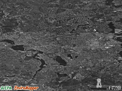 Framingham satellite photo by USGS