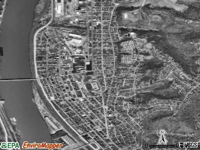 Ambridge satellite photo by USGS