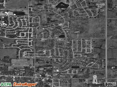 Frankfort Square satellite photo by USGS