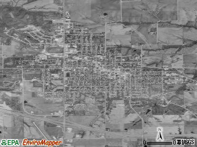 Knoxville satellite photo by USGS